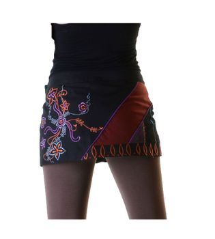 Hippie Mini Skirt Decorative Belt Wrap Skirt Goa Dance Skirt – Bild 3
