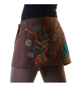 Hippie Mini Skirt Decorative Belt Wrap Skirt Goa Dance Skirt – Bild 7
