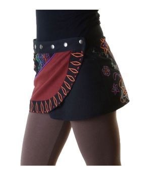 Hippie Mini Skirt Decorative Belt Wrap Skirt Goa Dance Skirt – Bild 4