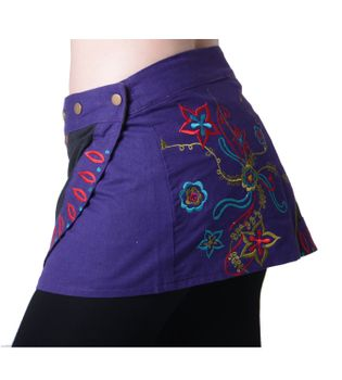 Hippie Mini Skirt Decorative Belt Wrap Skirt Goa Dance Skirt – Bild 2