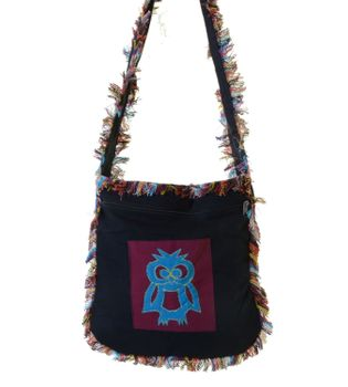 Fringed Bag Owl Ethno Hippie Shoulder Bag