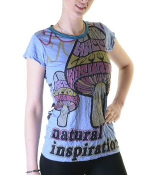 70s Retro Top Sure WEED Magic Mushroom Psy Goa T-Shirt Girlie – Bild 1