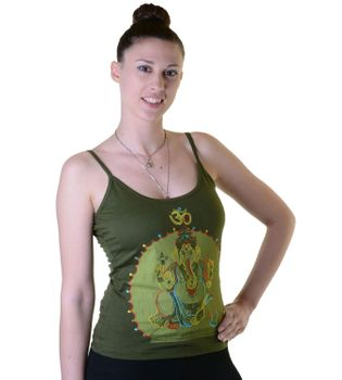 Embroidered Om Ganesha Top Nepal Girlie – Bild 4