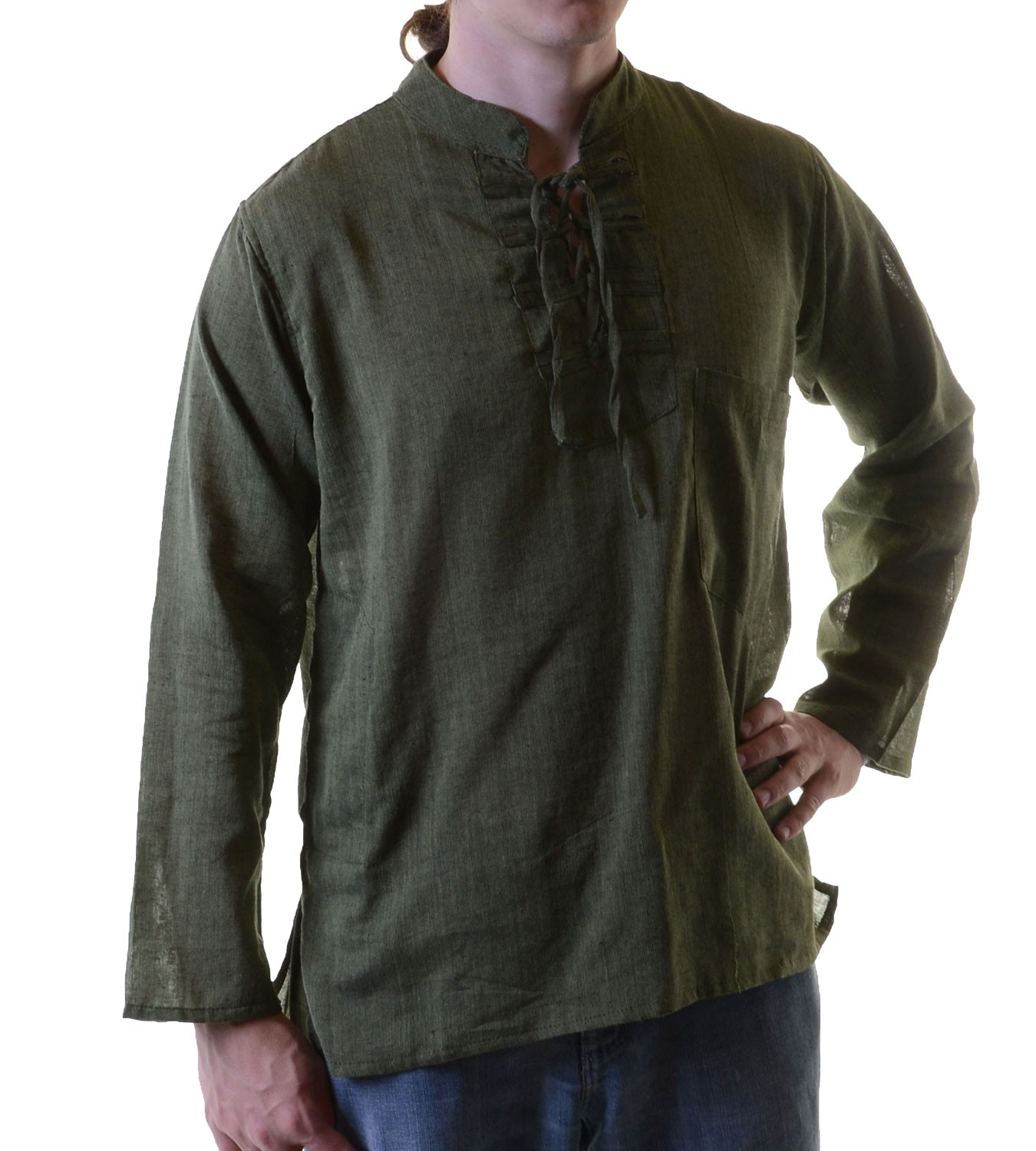 Fisherman kurtha ethno shirt hippie nepal