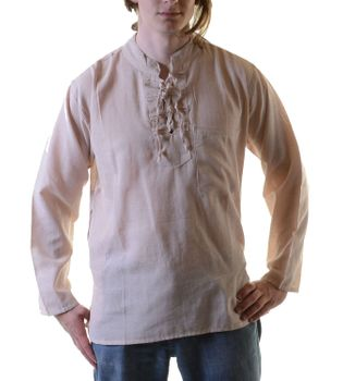 Fisherman Kurtha Ethno Shirt Hippie Nepal – Bild 6
