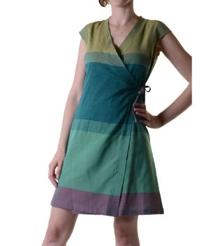 Mini-Wrap Dress Cotton Multicolored