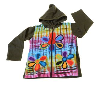 Funny Gnome Jacket with Hood Fantasy Flowers – Bild 1