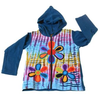 Funny Gnome Jacket with Hood Fantasy Flowers – Bild 4