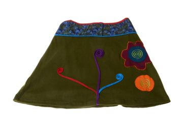 Goa Skirt with Great Embroideries Multicolored – Bild 2