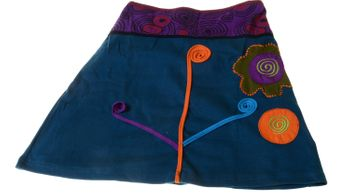 Goa Skirt with Great Embroideries Multicolored – Bild 3