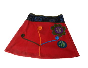 Goa Skirt with Great Embroideries Multicolored – Bild 4