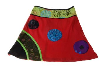 Summer Hippie Goa Patchwork Dance Skirt – Bild 3