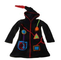 Kids Hippie Jacket with Funny Elfin Hood Patchwork