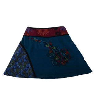 Summer Hippie Goa Patchwork Dance Skirt with Great Patchwork Applications – Bild 2