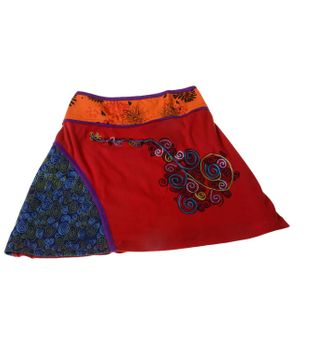 Summer Hippie Goa Patchwork Dance Skirt with Great Patchwork Applications – Bild 5