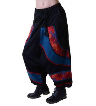 Psy Sarouel Baggy Pants Hippie Hose Goa Baumwoll Tanzhose mehrfarbig – Bild 3
