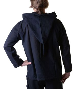 Fisherman Shirt Kurtha Unicolor Shirt Poncho Medieval Nepal with Hood – Bild 12