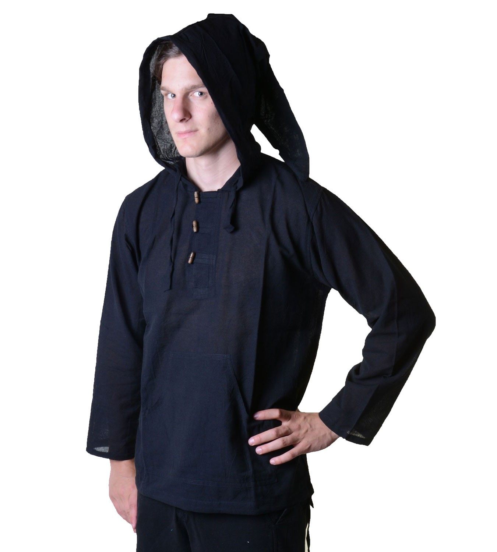 nepal fischerhemd kurtha einfarbig hemd poncho mittelalter. Black Bedroom Furniture Sets. Home Design Ideas