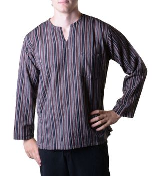 Fisherman Shirt Kurtha Striped Shirt Poncho Medieval Nepal – Bild 3