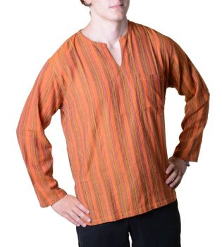 Fisherman Shirt Kurtha Striped Shirt Poncho Medieval Nepal – Bild 5