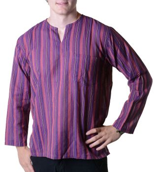 Fisherman Shirt Kurtha Striped Shirt Poncho Medieval Nepal – Bild 7