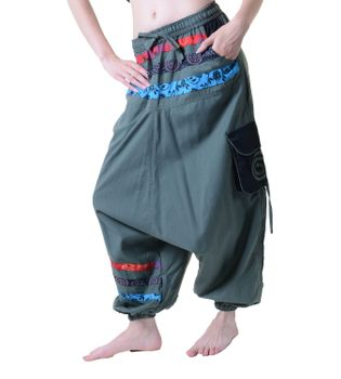 Psy Sarouel Baggy Pants Hippie Hose Goa Cotton Dance Wear – Bild 2