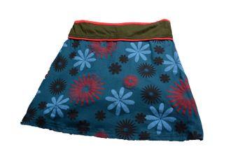Goa Patchwork Hippie Miniskirt Flowers – Bild 2