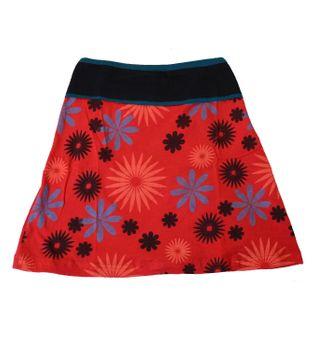Goa Patchwork Hippie Miniskirt Flowers – Bild 8