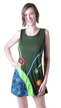 Minikleid Longshirt Tunika Hippie Goa Sommerkleid Patchwork – Bild 2
