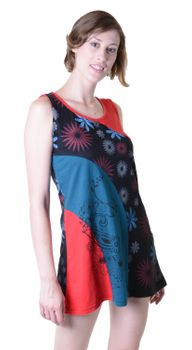 Hippie Goa Strap Dress with Colorful Patchwork Design – Bild 2