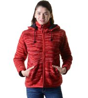 Woolen Jacket Hippie Goa with Detachable Hood Red 001