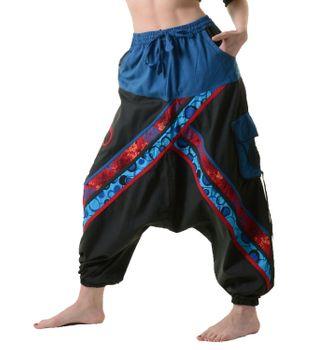 Psy Sarouel Baggy Ibiza Pants Hippie Hose Goa Baumwoll Haremshose – Bild 1