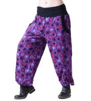 Aladdin Pants Hippie Pants Goa Cotton Harem Pants Purple/ Red 001
