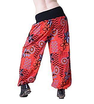 Aladdin Pants Hippie Pants Goa Cotton Harem Pants Red/Orange – Bild 2