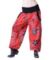 Aladdin Pants Hippie Pants Goa Cotton Harem Pants Red/Orange 001