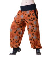 Aladin Pants Hippie Hose Goa Baumwoll Haremshose Orange 001