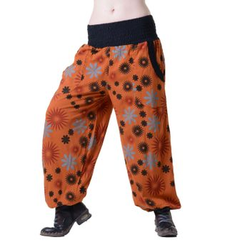 Aladdin Pants Hippie Pants Goa Cotton Harem Pants Orange – Bild 1