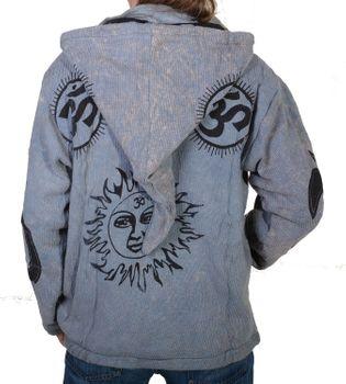Goa Om Batik Strickjacke Jacke Zipfelkapuze Hippie in tollen Farben – Bild 6