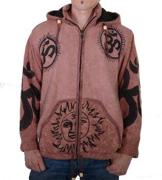 Goa Om Batik Strickjacke Jacke Zipfelkapuze Hippie in tollen Farben – Bild 8