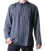 Fisherman Shirt Kurtha Striped Shirt Poncho Medieval Nepal