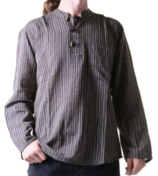 Fisherman Shirt Kurtha Striped Shirt Poncho Medieval Nepal – Bild 1