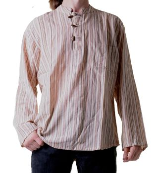 Fisherman Shirt Kurtha Striped Shirt Poncho Medieval Nepal – Bild 4