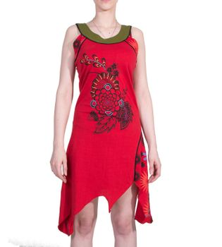 Minikleid Longshirt Tunika Hippie Zipfelkleid – Bild 5