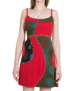 Hippie Goa Strap Dress with Colorful Patchwork Design – Bild 3
