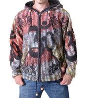 Psy Hippie Men's Knit Jacket with Om Print