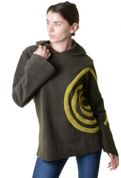 Extravagant Goa Fleece Sweater with Elfin Hood – Bild 12