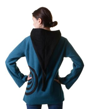 Extravagant Goa Fleece Sweater with Elfin Hood – Bild 15