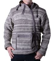 Baja Wool Jacket Hippie Goa With Elfin Hood 001