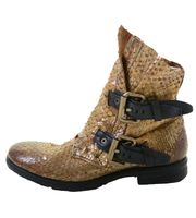 A.S.98 Ladies Leather Bootee Oro Nero 001