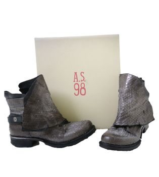 A.S.98 Ladies Leather Bootee Piombo Nero – Bild 4